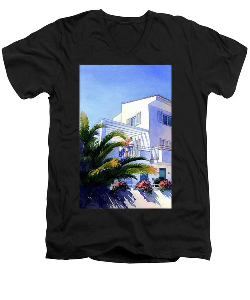Beach House At Figueres Men's V-Neck T-Shirt