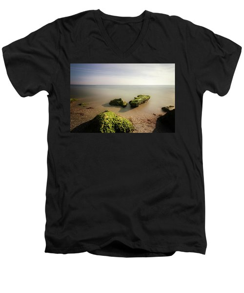 Men's V-Neck T-Shirt featuring the photograph Beach by RC Pics