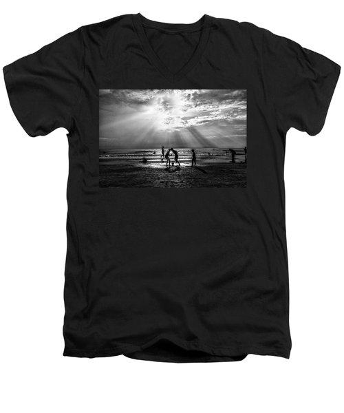 Beach Soccer Men's V-Neck T-Shirt