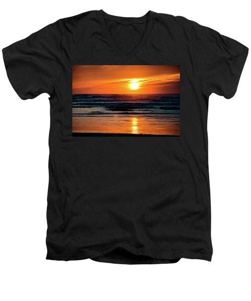 Beach Sunset Men's V-Neck T-Shirt
