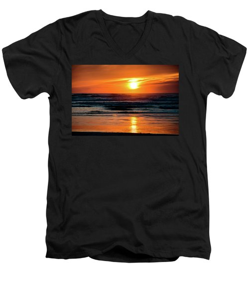 Beach Sunset Men's V-Neck T-Shirt