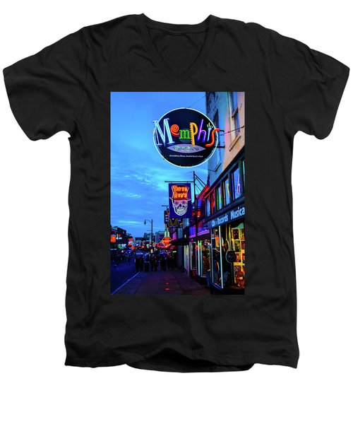 Beale Str. Blues  Men's V-Neck T-Shirt
