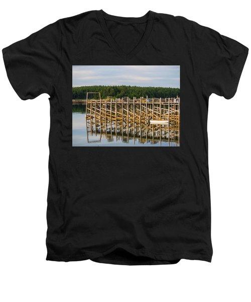 Beals Island, Maine  Men's V-Neck T-Shirt