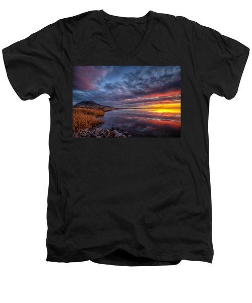 Bear Butte Lake Sunrise Men's V-Neck T-Shirt