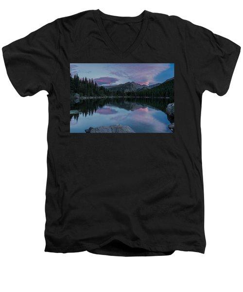 Bear Lake Sunset Men's V-Neck T-Shirt