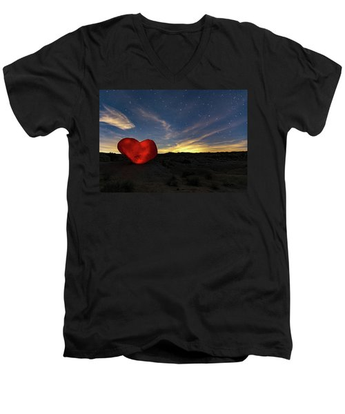 Beating Heart Men's V-Neck T-Shirt