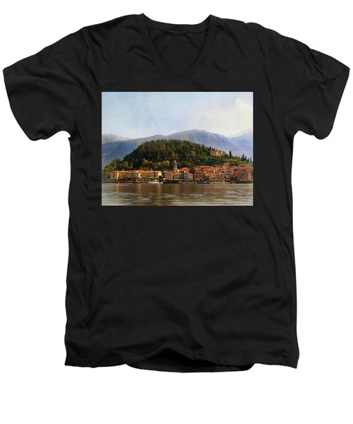 Beautiful Bellagio Men's V-Neck T-Shirt by Jacqi Elmslie