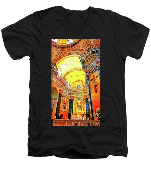 Beautiful Church In Nizza Men's V-Neck T-Shirt