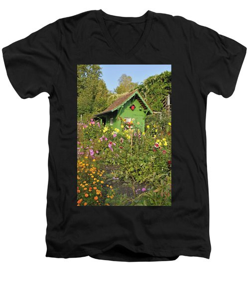 Beautiful Colorful Flower Garden Men's V-Neck T-Shirt