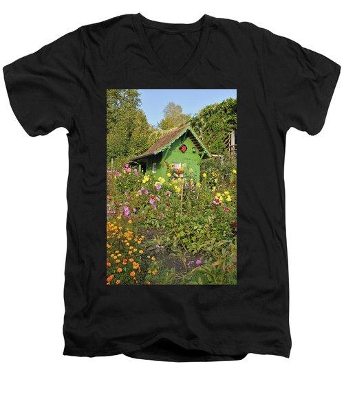 Beautiful Colorful Flower Garden Men's V-Neck T-Shirt