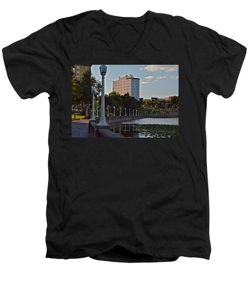 Beautiful Downtown Lakeland Men's V-Neck T-Shirt