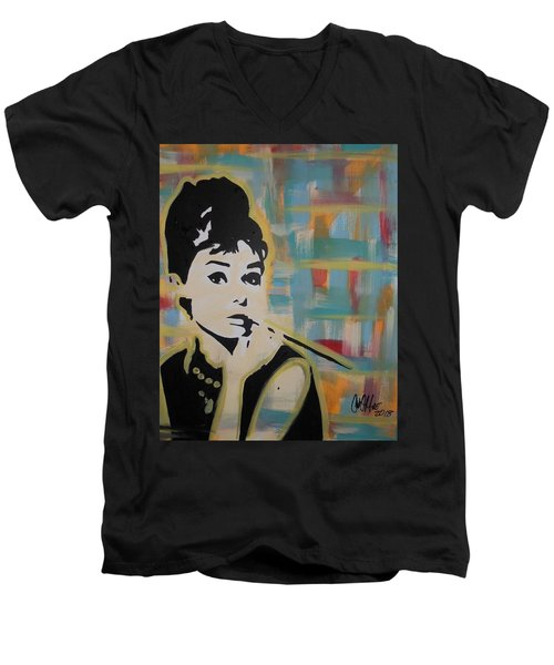 Beautiful Hepburn Men's V-Neck T-Shirt