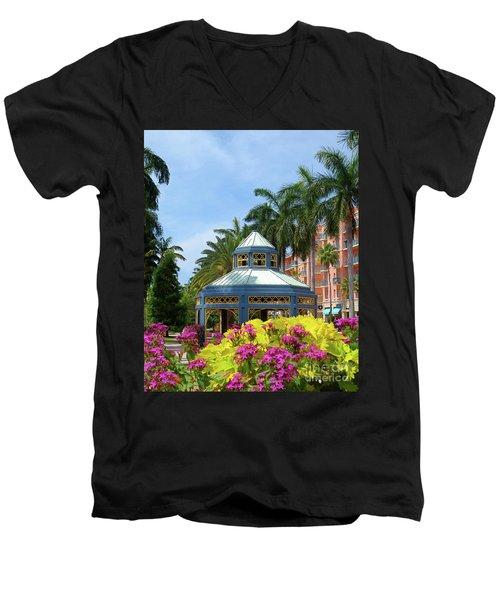 Beautiful Mizner Park In Boca Raton, Florida. #3 Men's V-Neck T-Shirt