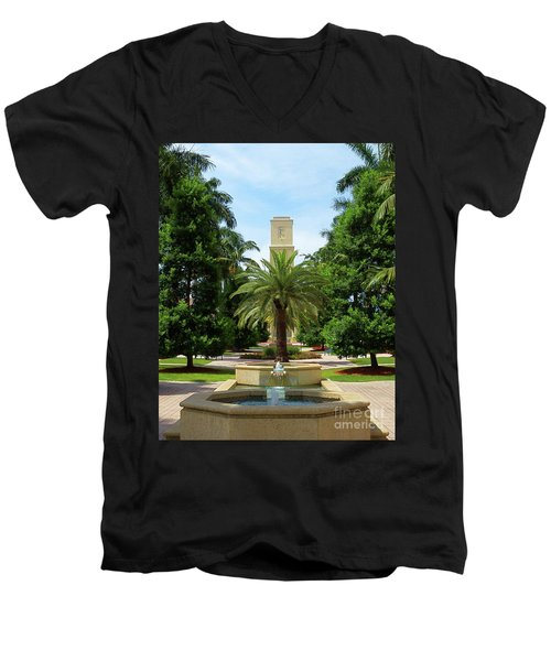 Beautiful Mizner Park In Boca Raton, Florida. #7 Men's V-Neck T-Shirt