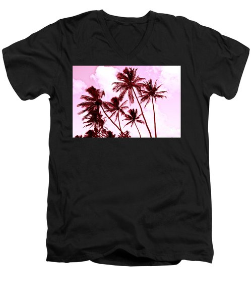 Beautiful Palms Of Maui 13 Men's V-Neck T-Shirt by Micah May