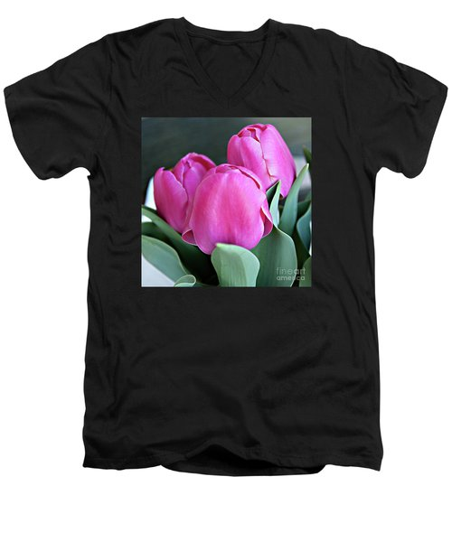 Beautiful Pink Lipstick Men's V-Neck T-Shirt