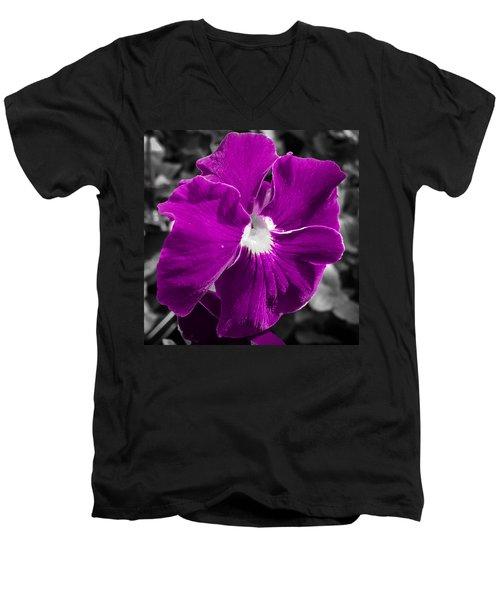 Beautiful Purple Men's V-Neck T-Shirt