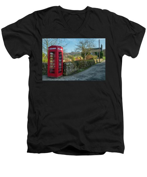 Men's V-Neck T-Shirt featuring the photograph Beautiful Rural Scotland by Jeremy Lavender Photography