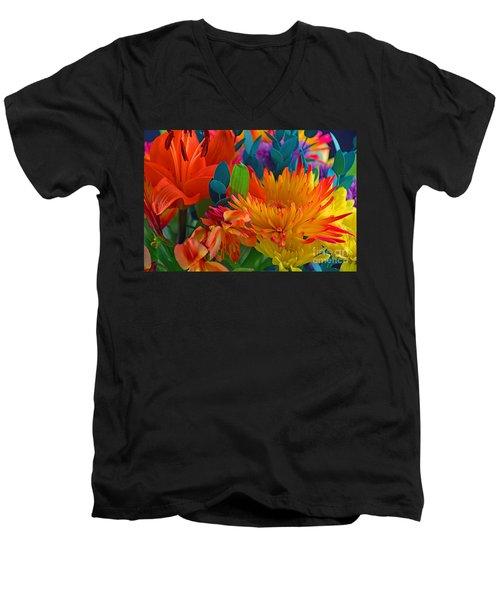 Beautiful To The Eyes  Men's V-Neck T-Shirt by Ray Shrewsberry