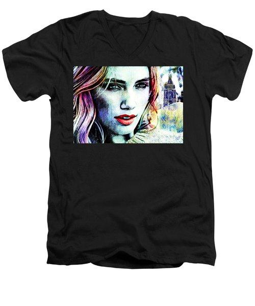 Beautiful Woman Men's V-Neck T-Shirt
