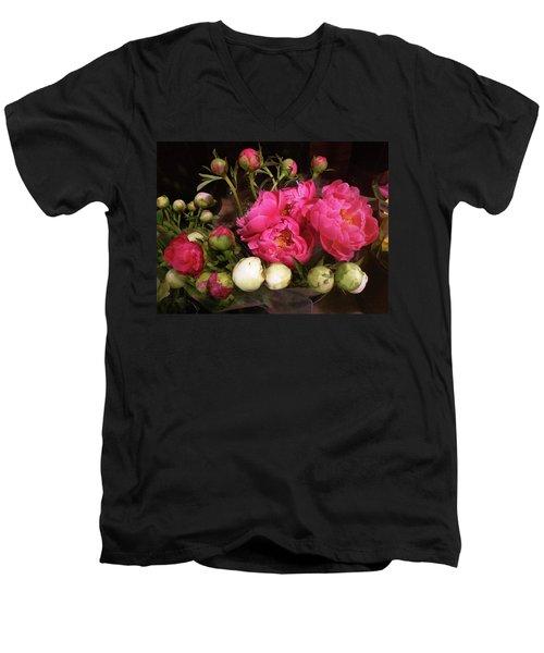 Beauty In The Whole Foods Flower Dept. Men's V-Neck T-Shirt