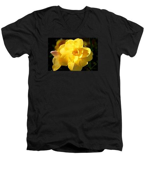 Beauty In Yellow Men's V-Neck T-Shirt by Milena Ilieva