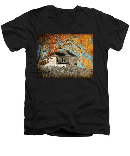 Beauty Surrounds Deserted Home Men's V-Neck T-Shirt by Kathy M Krause