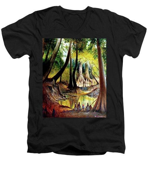Beaver Dam On Village Creek Men's V-Neck T-Shirt