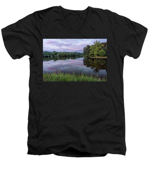 Beaver Lake Reflections Men's V-Neck T-Shirt
