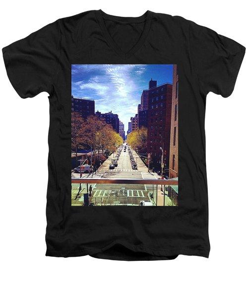 Highline Park Men's V-Neck T-Shirt by Mckenzie Weldon
