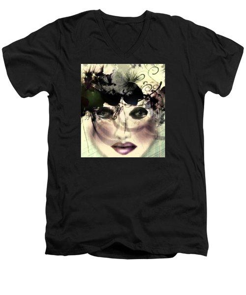 Becca Men's V-Neck T-Shirt by Katy Breen