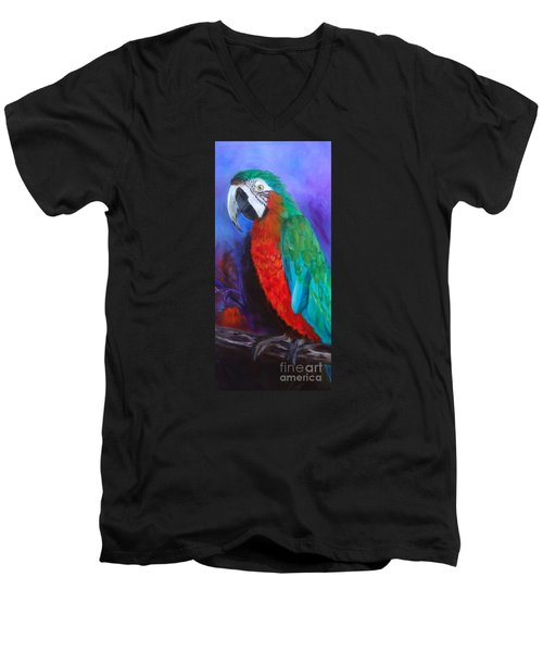 Becky The Macaw Men's V-Neck T-Shirt