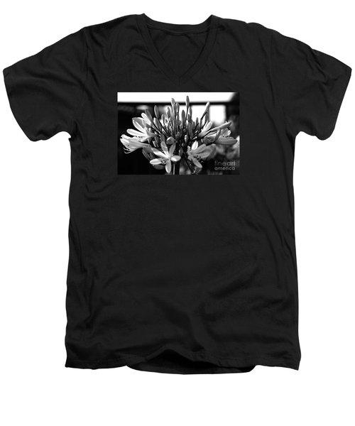 Becoming Beautiful - Bw Men's V-Neck T-Shirt by Linda Shafer