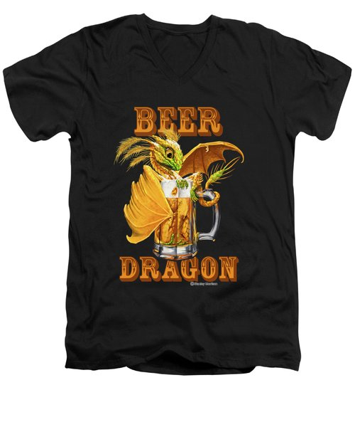 Beer Dragon Men's V-Neck T-Shirt