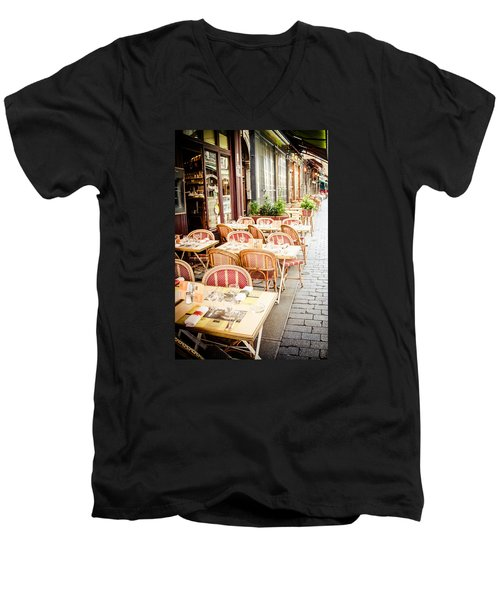 Men's V-Neck T-Shirt featuring the photograph Before The Rush by Jason Smith