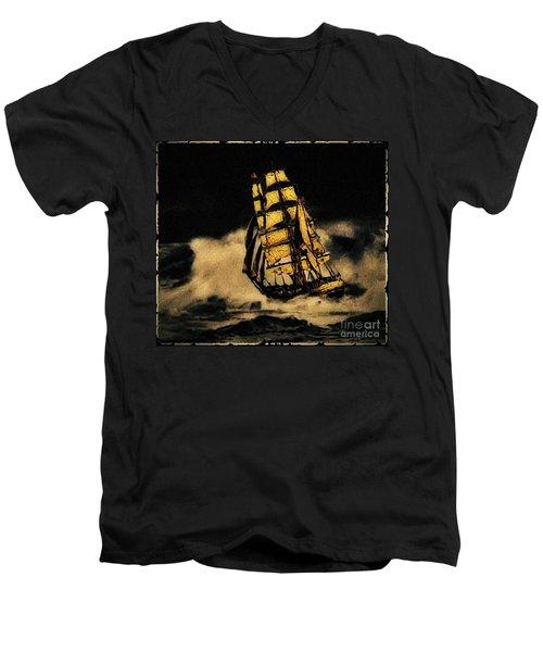 Before The Wind Men's V-Neck T-Shirt by Blair Stuart