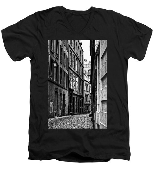 Men's V-Neck T-Shirt featuring the photograph Behind The Walls  by Elf Evans
