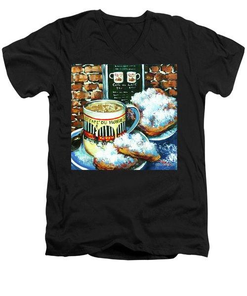 Beignets And Cafe Au Lait Men's V-Neck T-Shirt