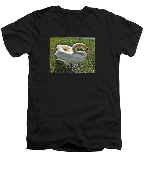 Being Shy Men's V-Neck T-Shirt by Christy Ricafrente