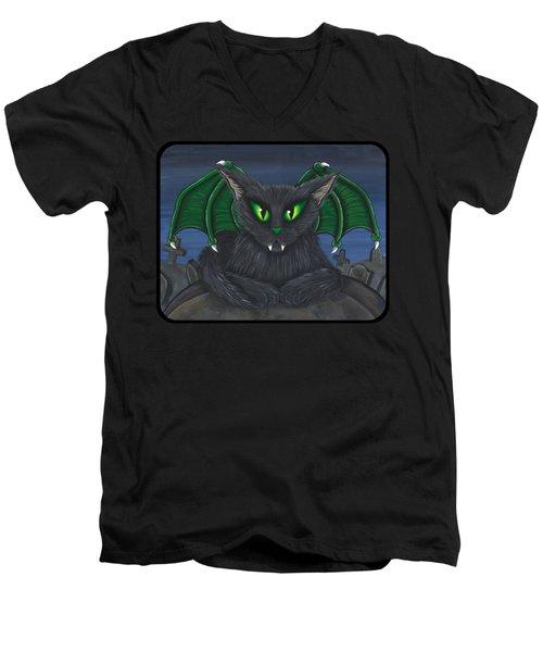 Bela Vampire Cat Men's V-Neck T-Shirt