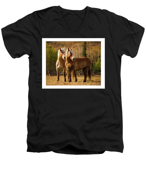 Belgian Draft Horses Men's V-Neck T-Shirt
