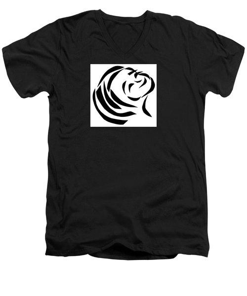 Believing Men's V-Neck T-Shirt by Delin Colon