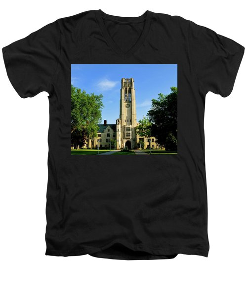 Bell Tower At The University Of Toledo Men's V-Neck T-Shirt
