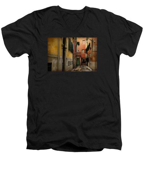 Bella Italia Men's V-Neck T-Shirt by Uri Baruch