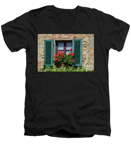 Bella Italian Window  Men's V-Neck T-Shirt