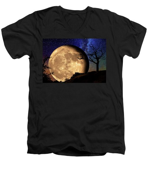 Bella Luna From Another World Men's V-Neck T-Shirt