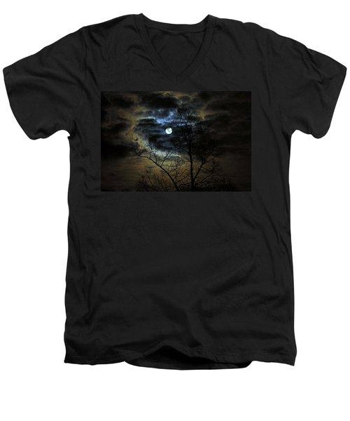 Bella Luna Men's V-Neck T-Shirt by Suzanne Stout