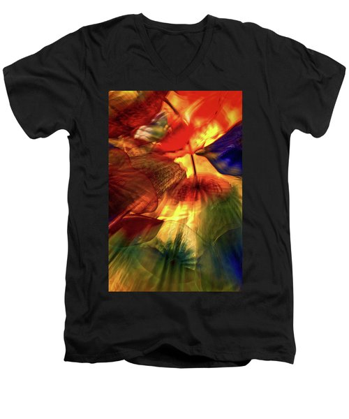 Bellagio Ceiling Sculpture Abstract Men's V-Neck T-Shirt