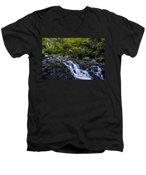 Below Pony Tail Falls Men's V-Neck T-Shirt