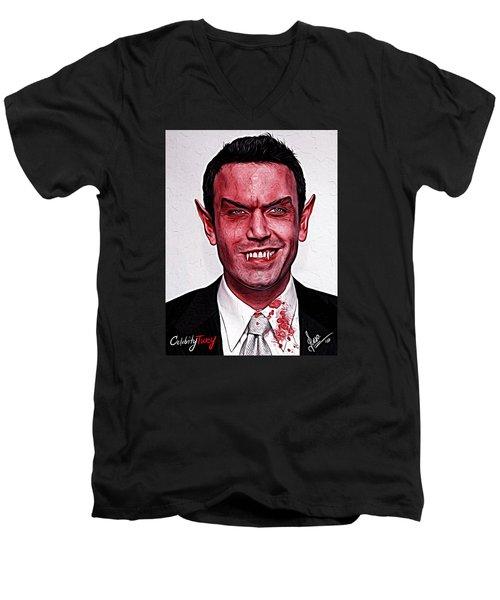 Ben Affleck Men's V-Neck T-Shirt by Gene Spino